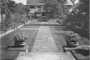 Aldwick Place sunken walled garden 1947