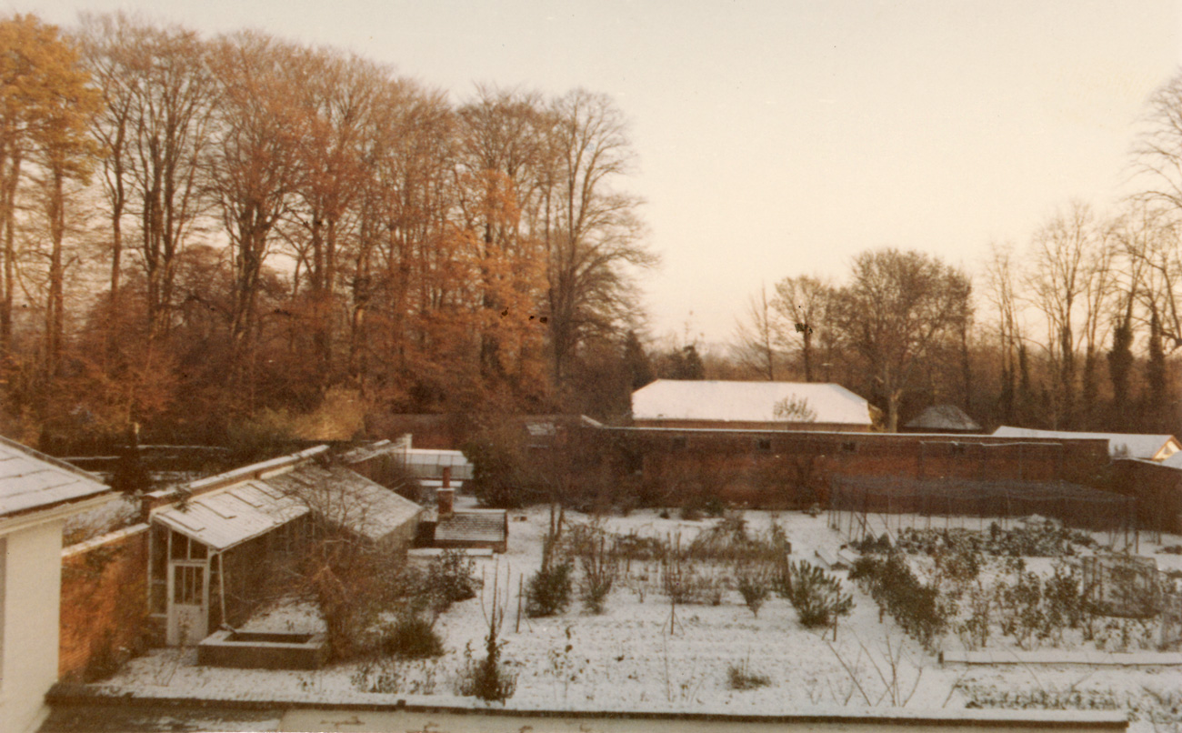 Sennicotts Walled Kitchen Garden in Winter 1969