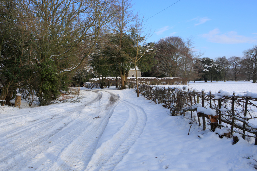 Chapel Lane in the snow