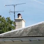 TV aerials on Sennicotts house.