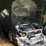 Audi A3 fire damage