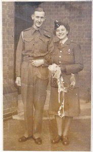 Victor & Mary Willis on their wedding day in October 1943